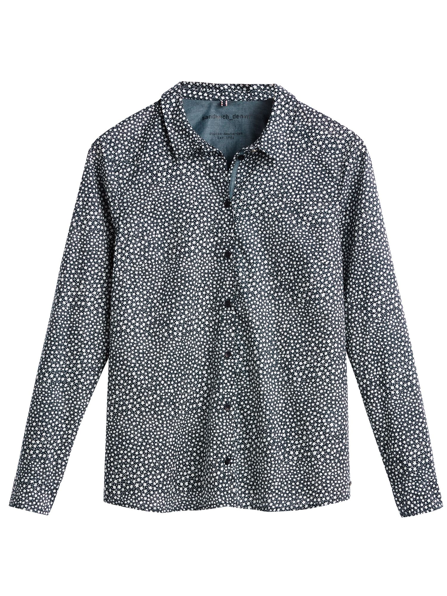 Sandwich Star print shirt, Blue