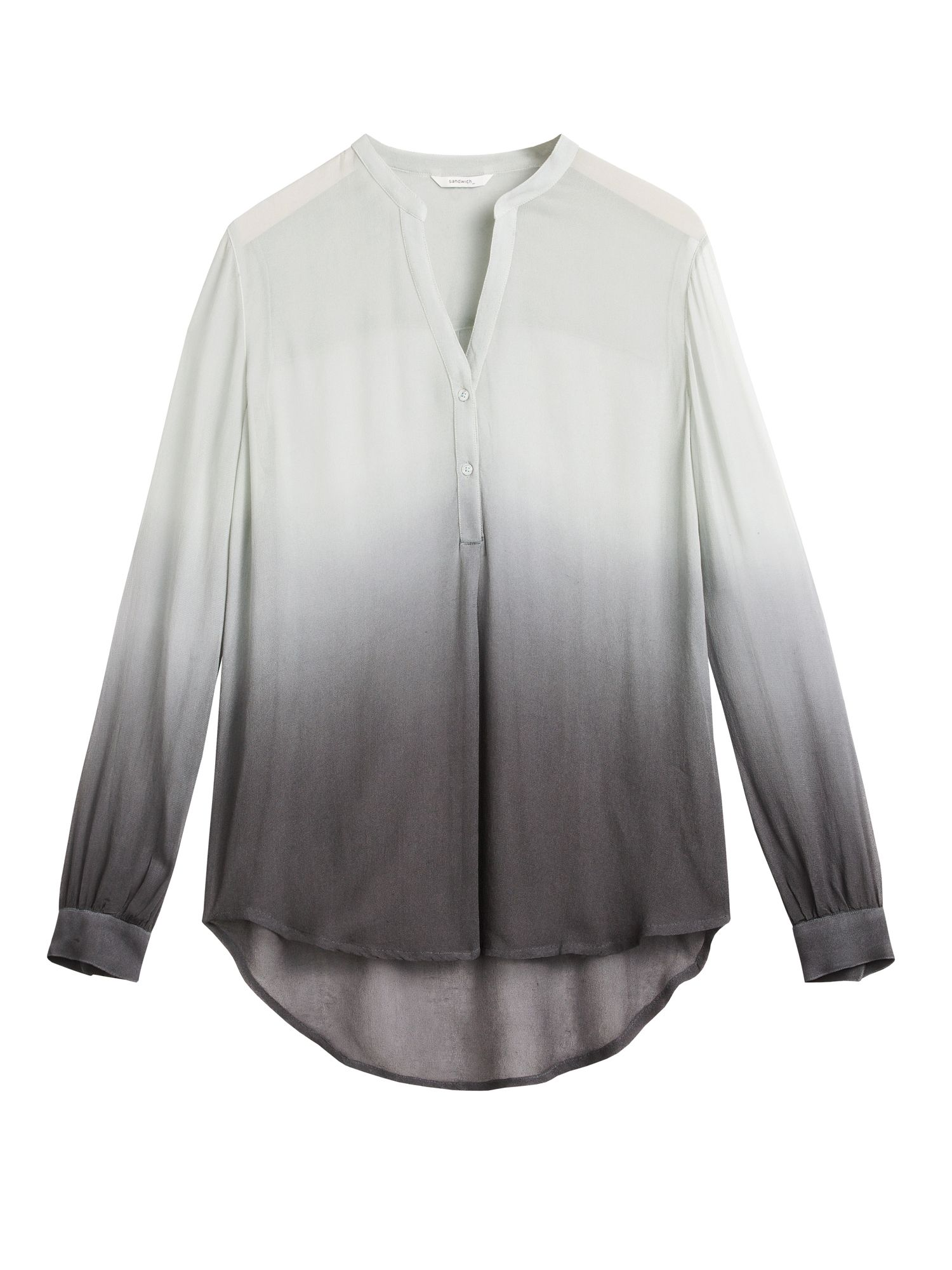 Sandwich Ombre effect blouse, Grey