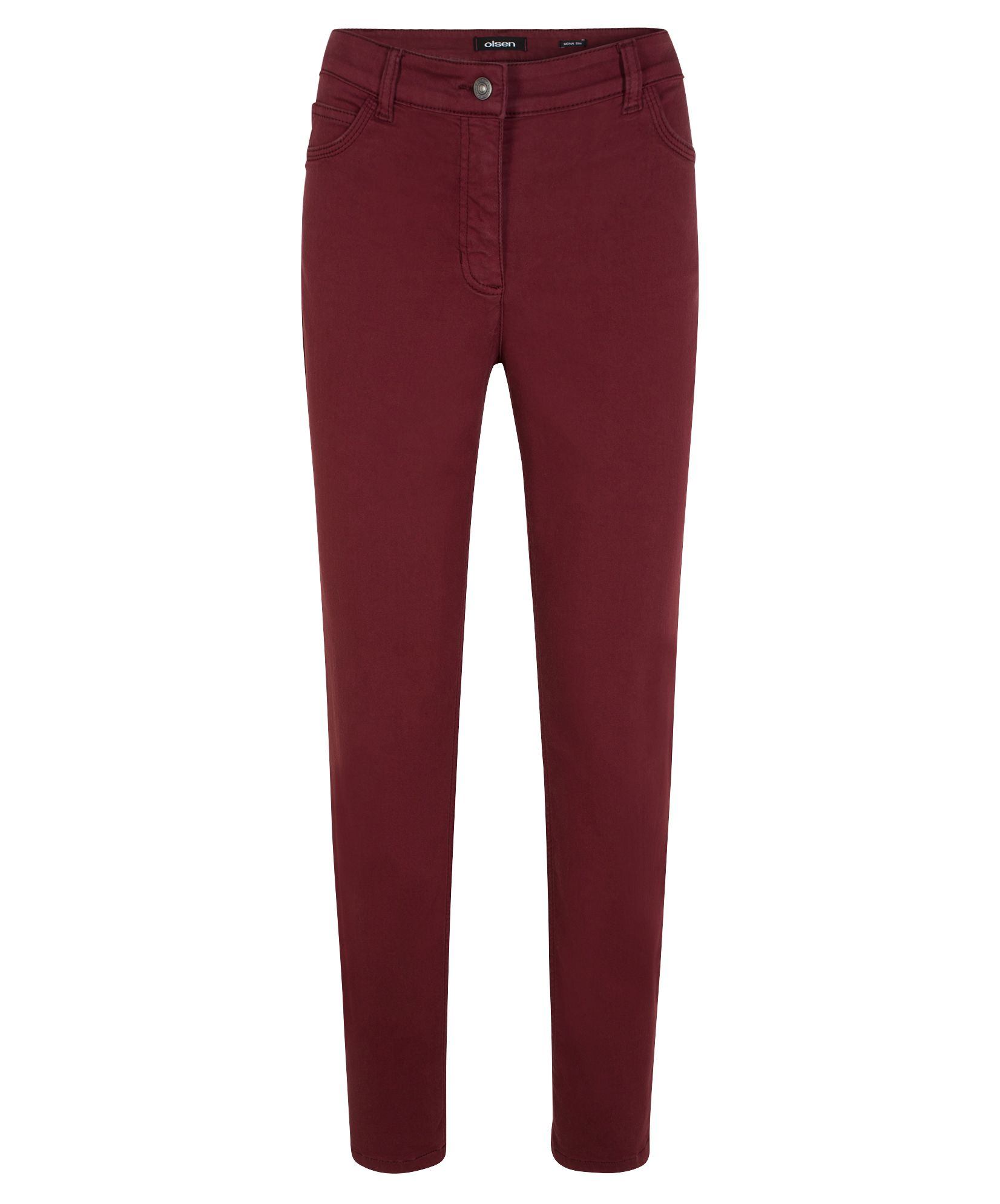 Olsen Trousers Casual Long, Red