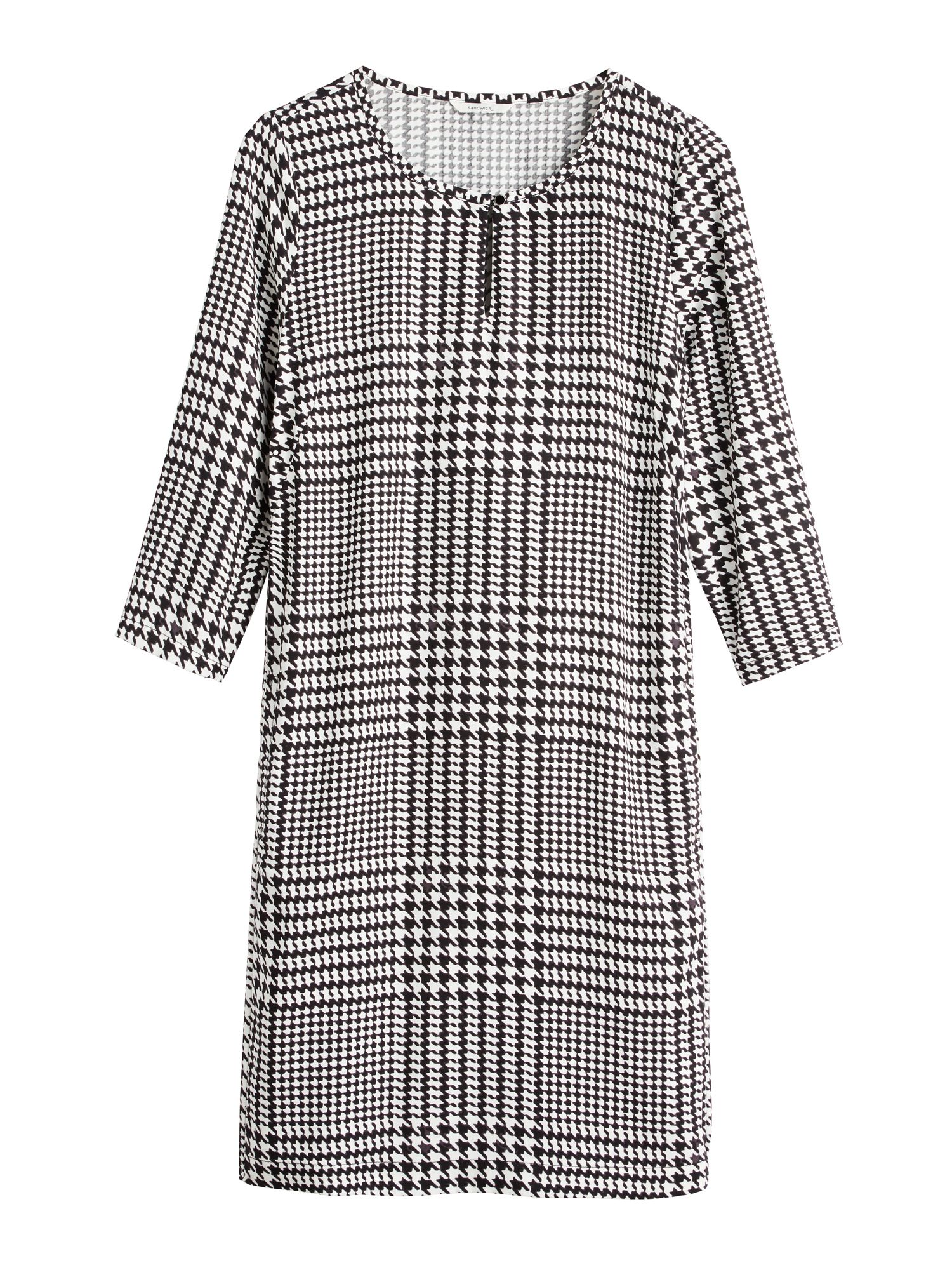 Sandwich Houndstooth dress with pockets, Black