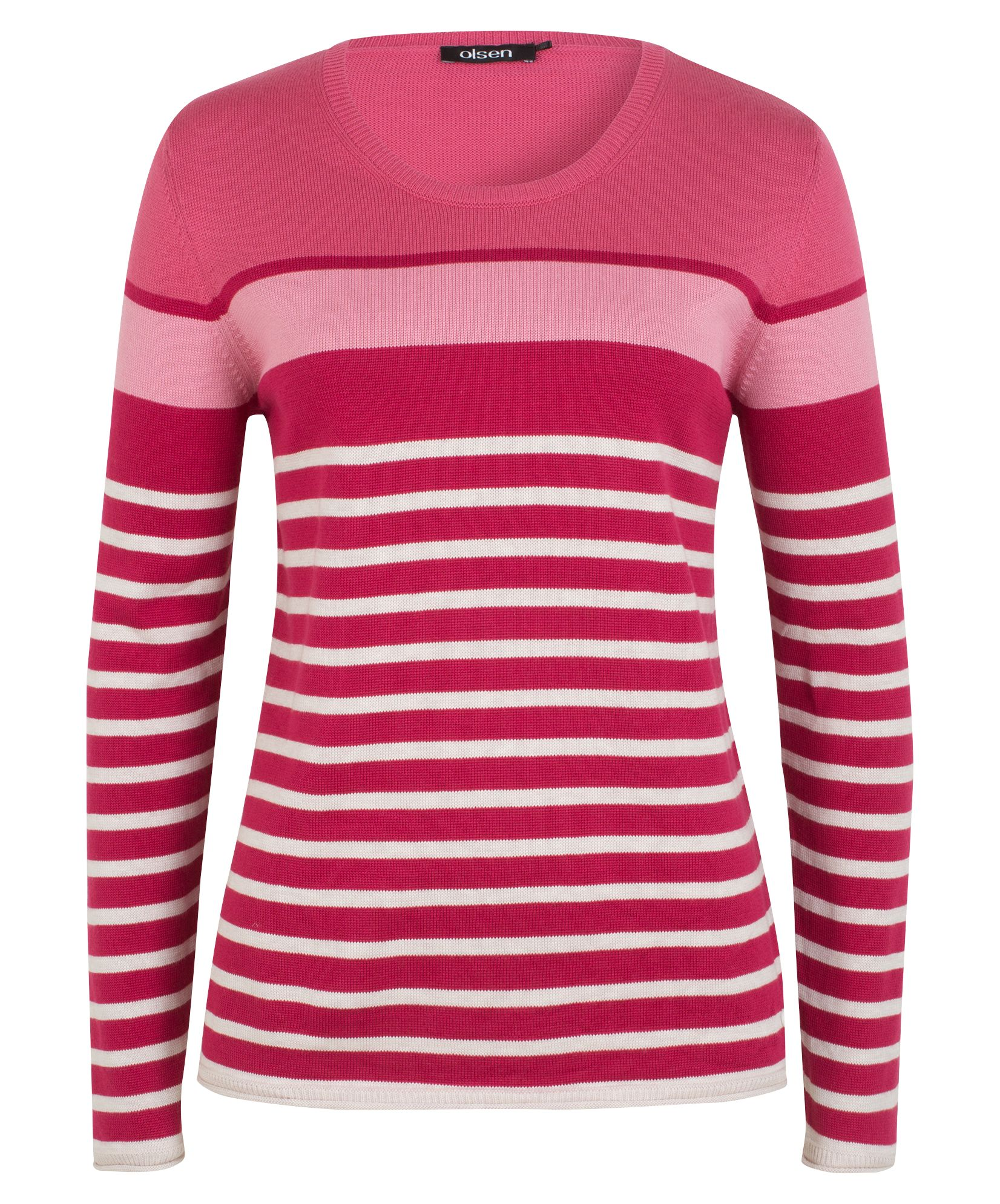 Olsen Pullover Horizontal Stripes, Berry