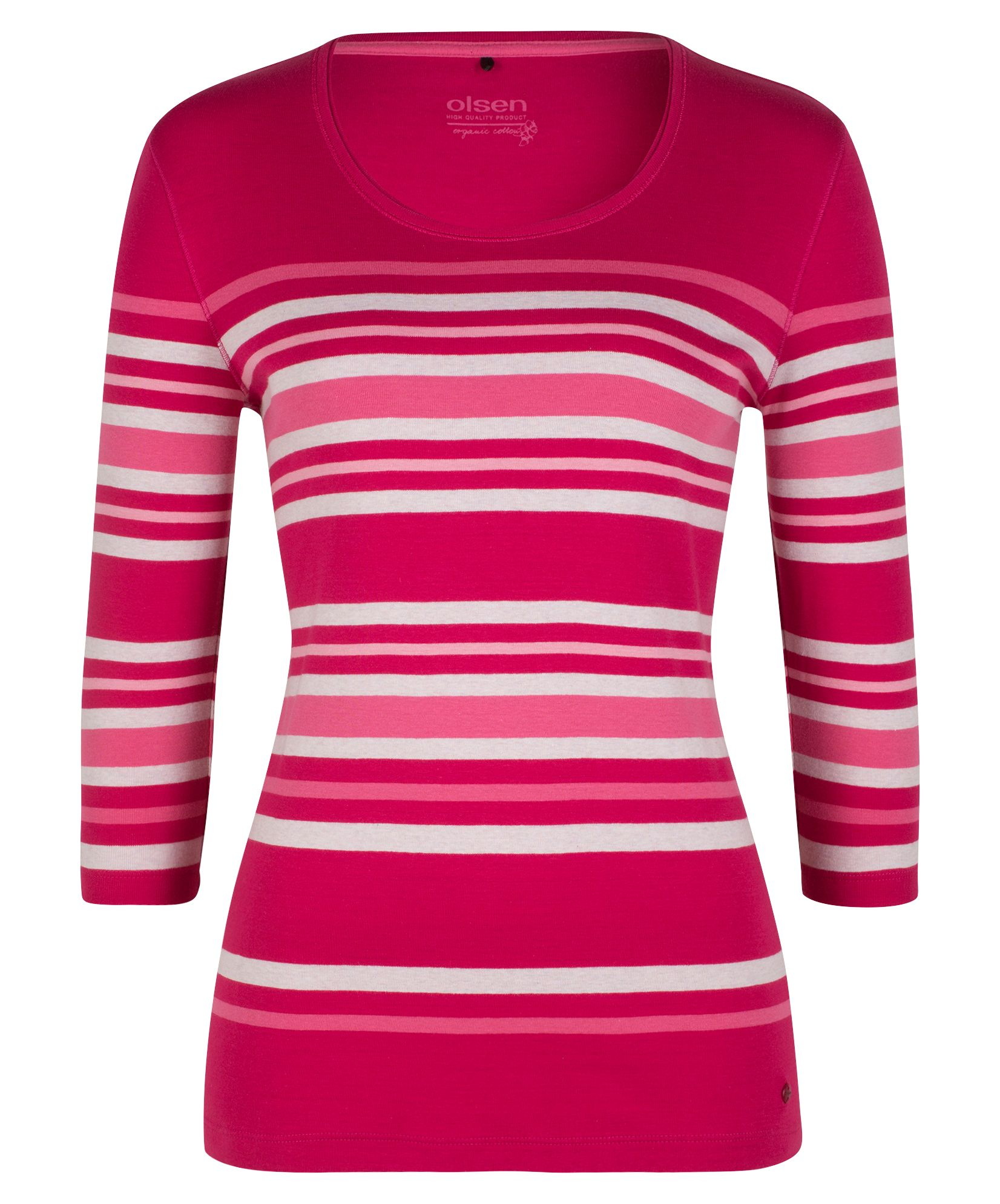 Olsen T-Shirt Multicolour Stripes, Berry