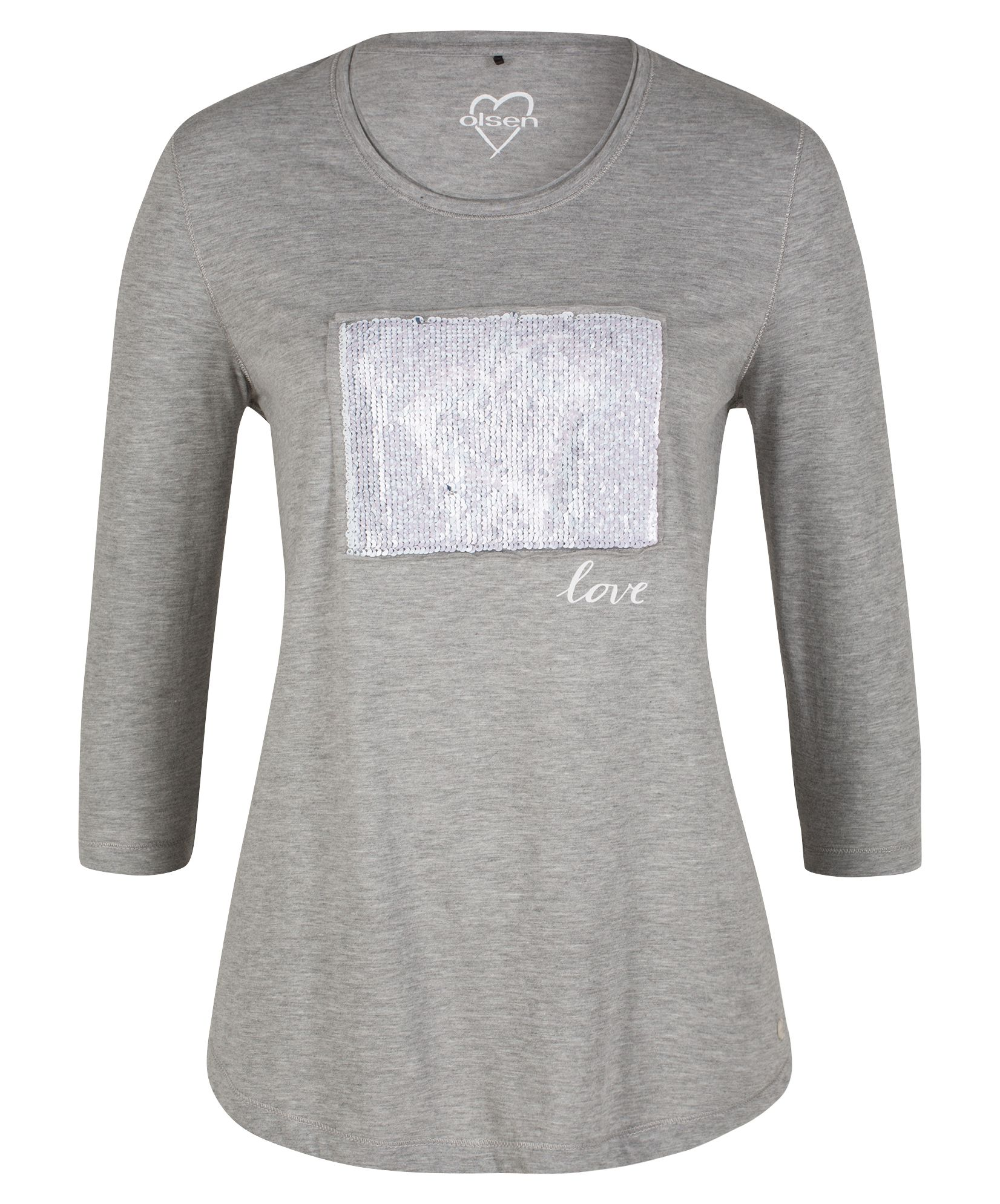 Olsen T-Shirt Effective Sequins, Grey