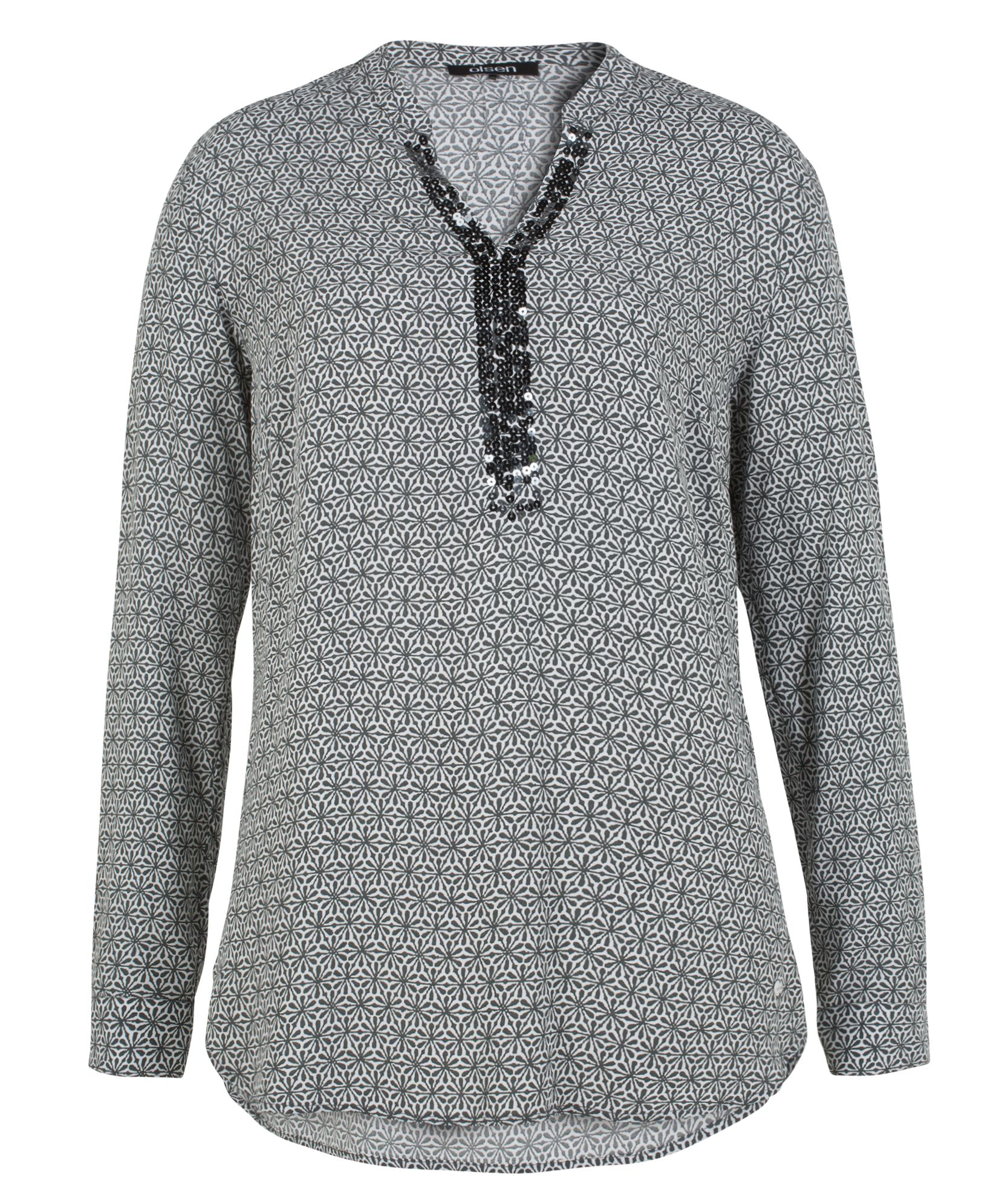 Olsen Blouse Sequins, Grey