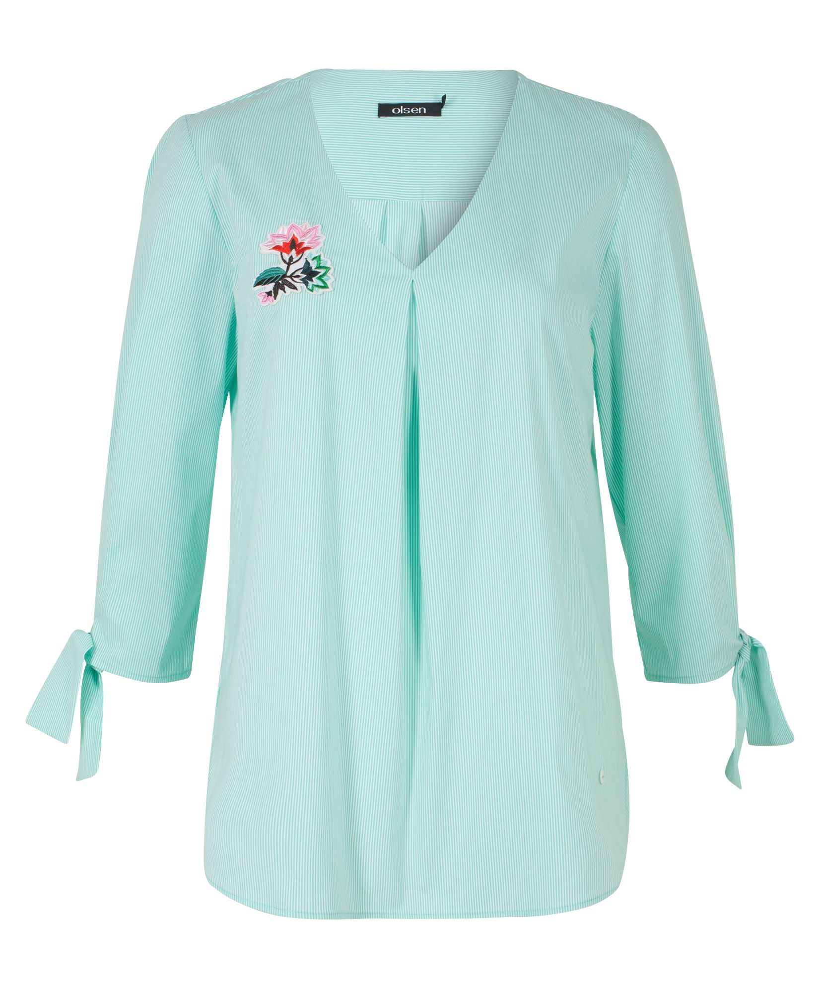 Olsen Blouse Flower Patch, Jade