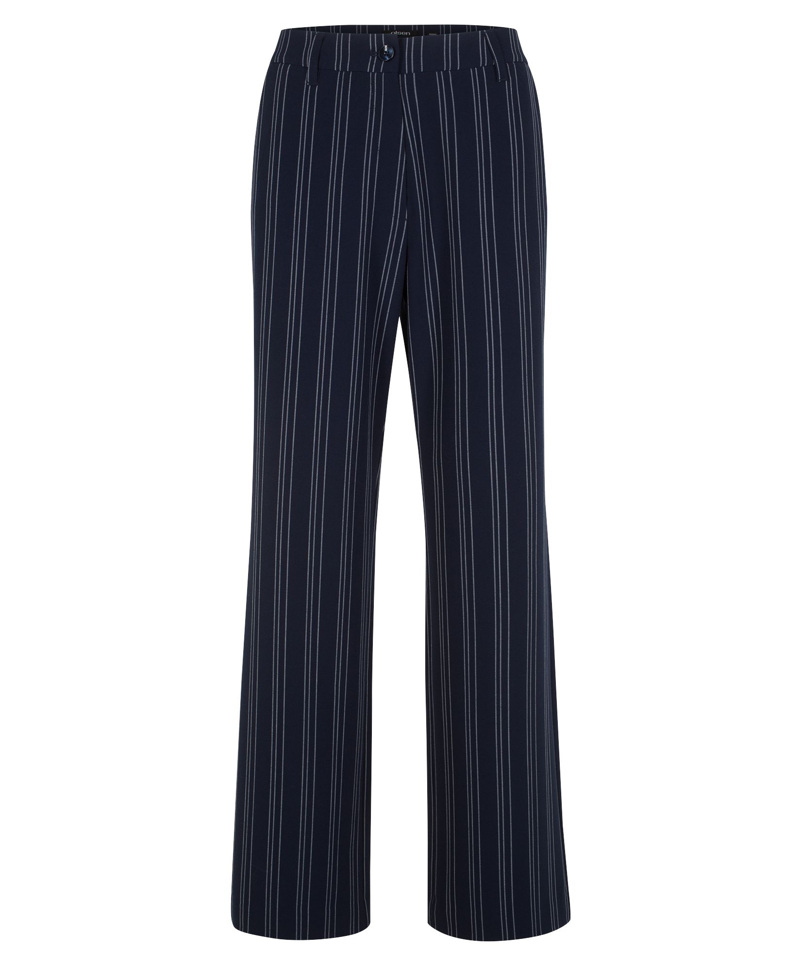 Olsen Trousers Anna With Pinstripes - Dark Pacific, Pacific