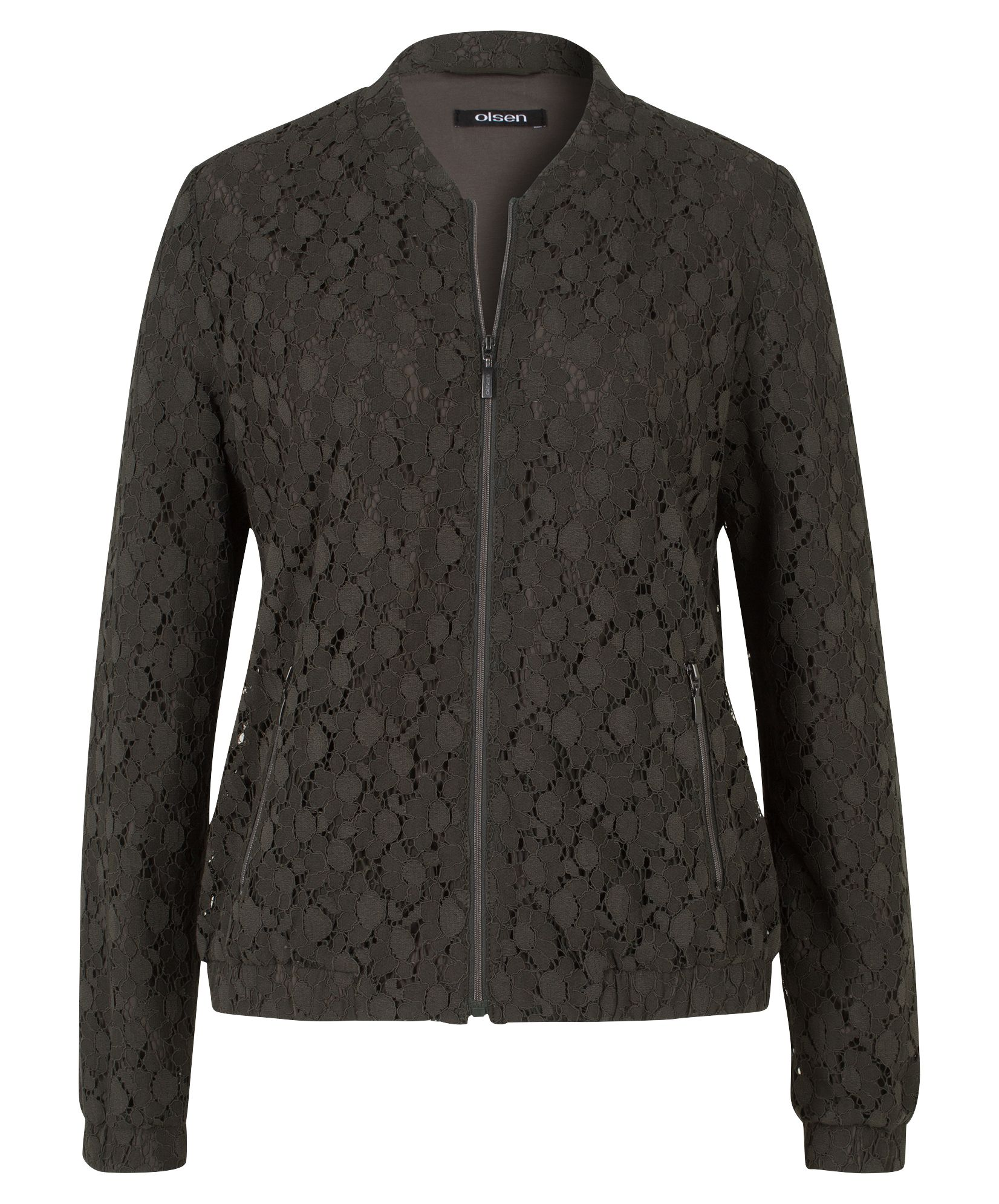 Olsen Blouson With Lace, Grey