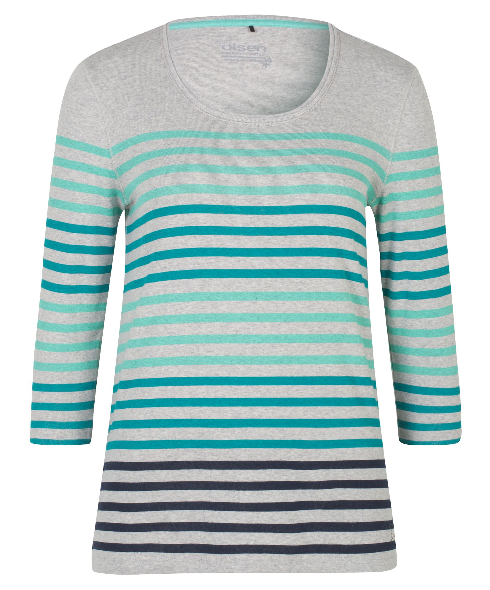 Olsen T-Shirt Multicolour Stripes, Jade