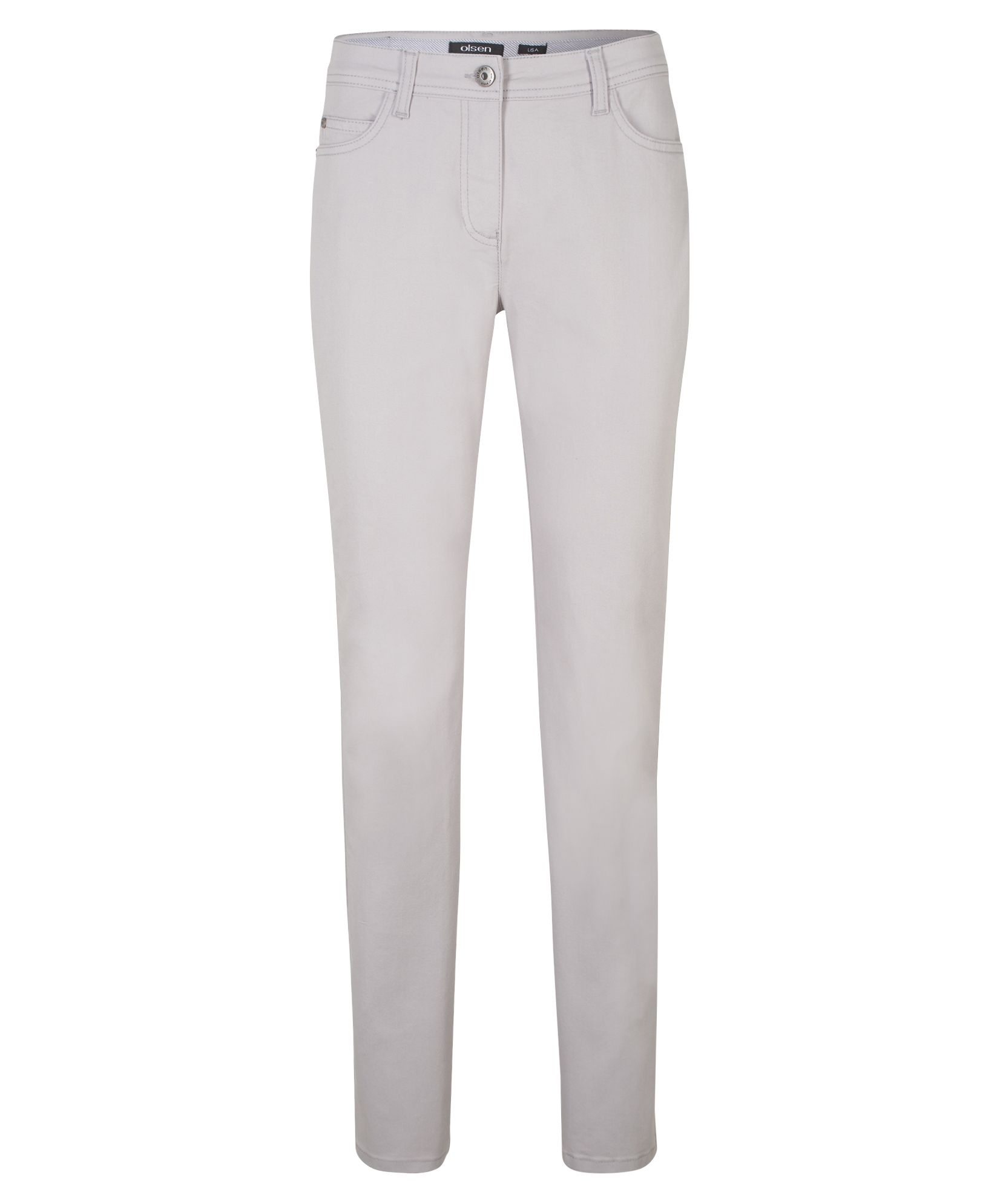 Olsen Power Stretch Jeans Lisa Straight, Silver Marl