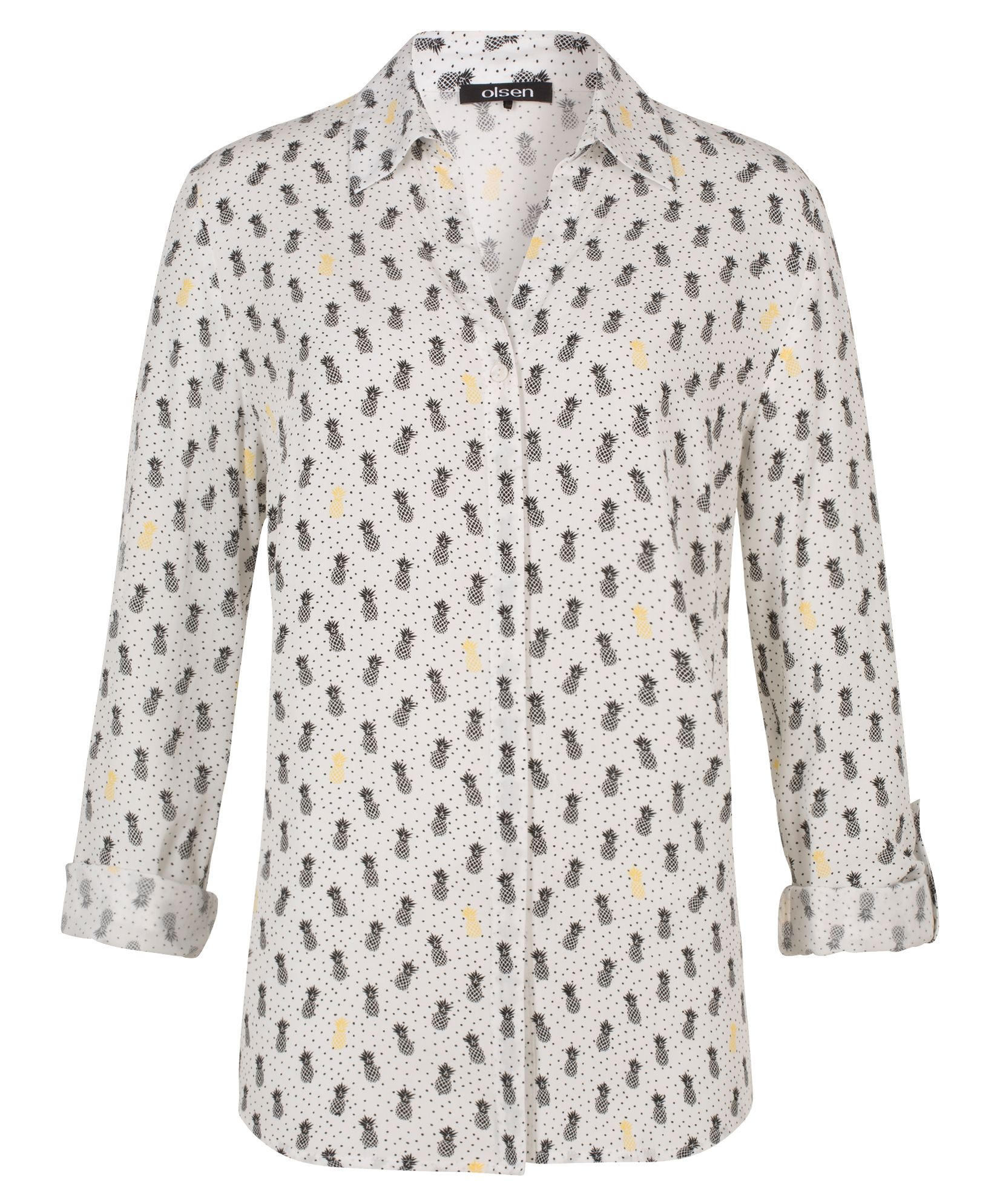 Olsen Blouse Woven Long Sleeves, Off White