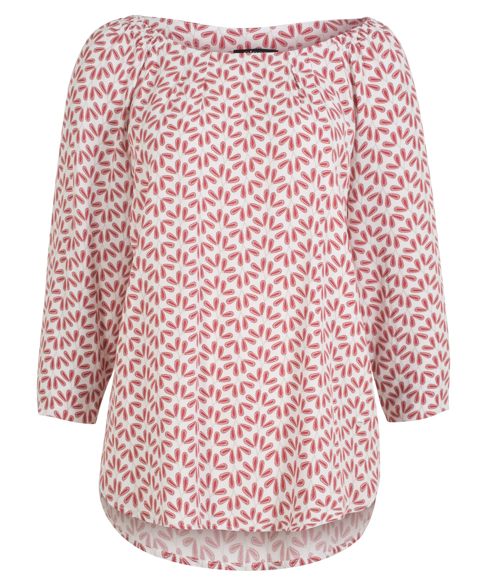 Olsen Blouse Woven Long Sleeves, Red