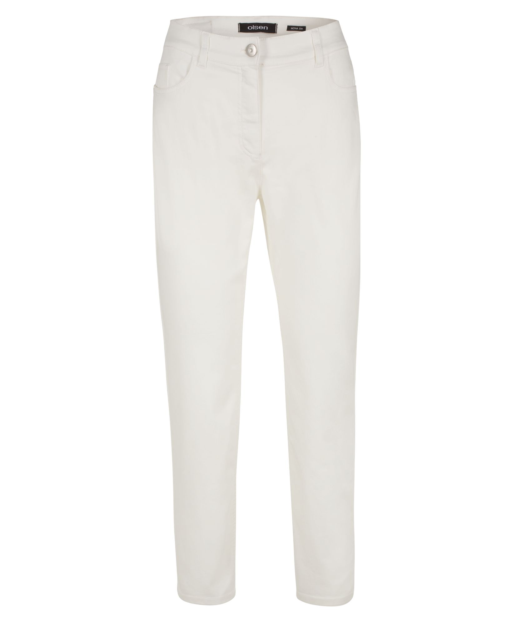 Olsen Trousers Casual Cropped, Off White