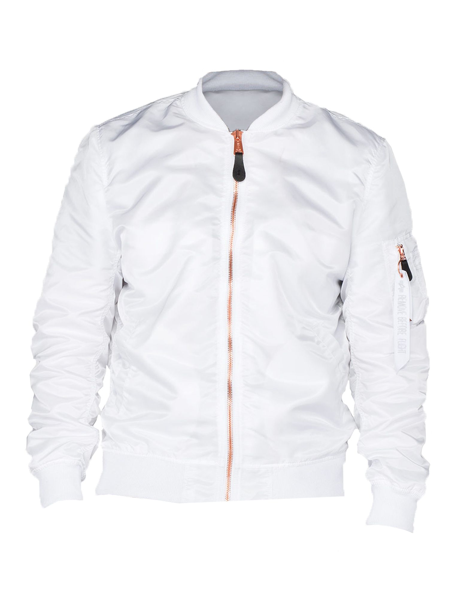 Alpha Industries Men's Alpha Industries Ma-1 vf lw jacket, White