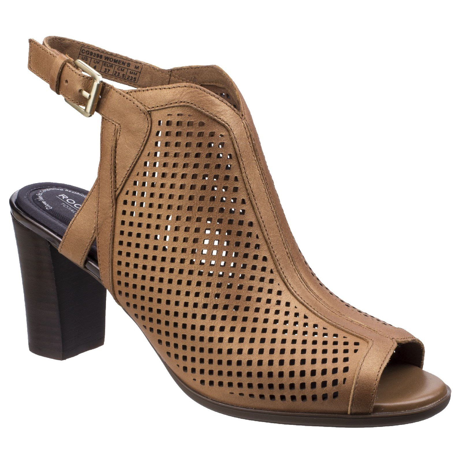 Rockport Trixie Perf Shoot Sandals, Brown