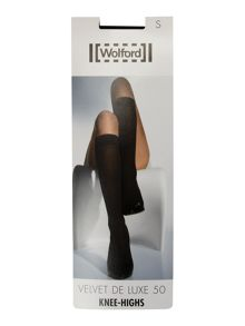 Wolford Velvet 50 denier knee highs