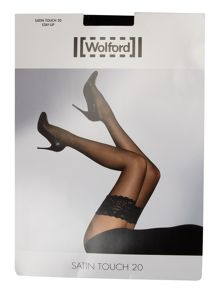Wolford 20 Denier satin touch hold ups