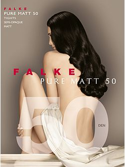 Pure matt 50 denier semi opaque tights
