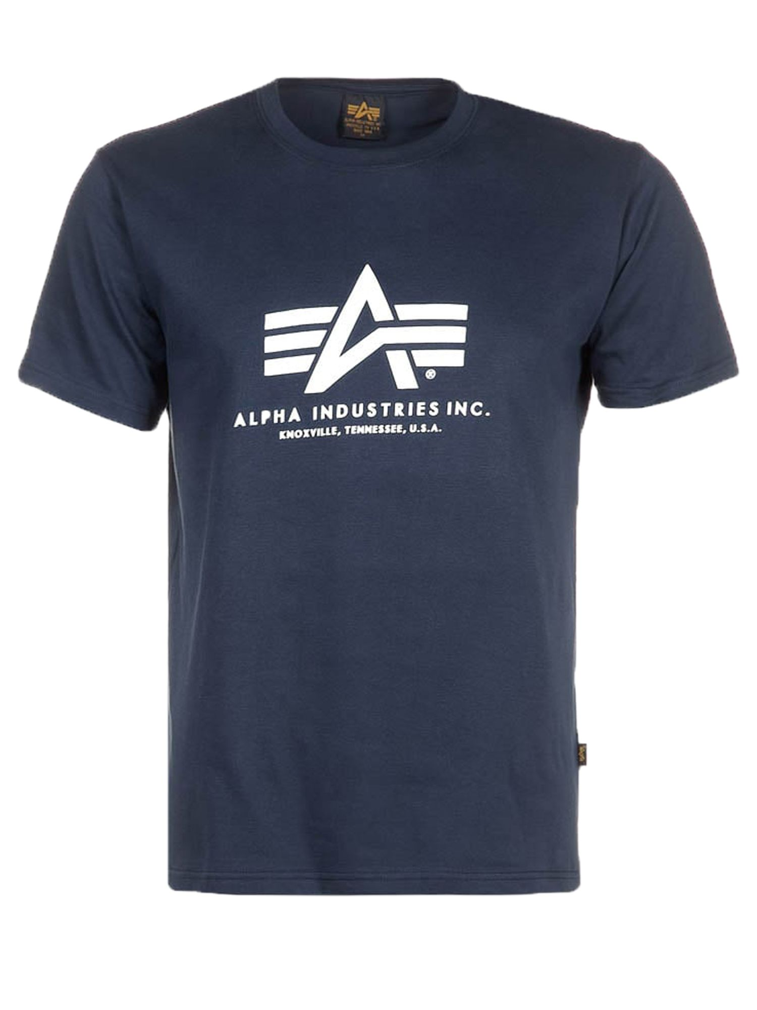 Alpha Industries Men's Alpha Industries Alpha Logo T-Shirt, Navy