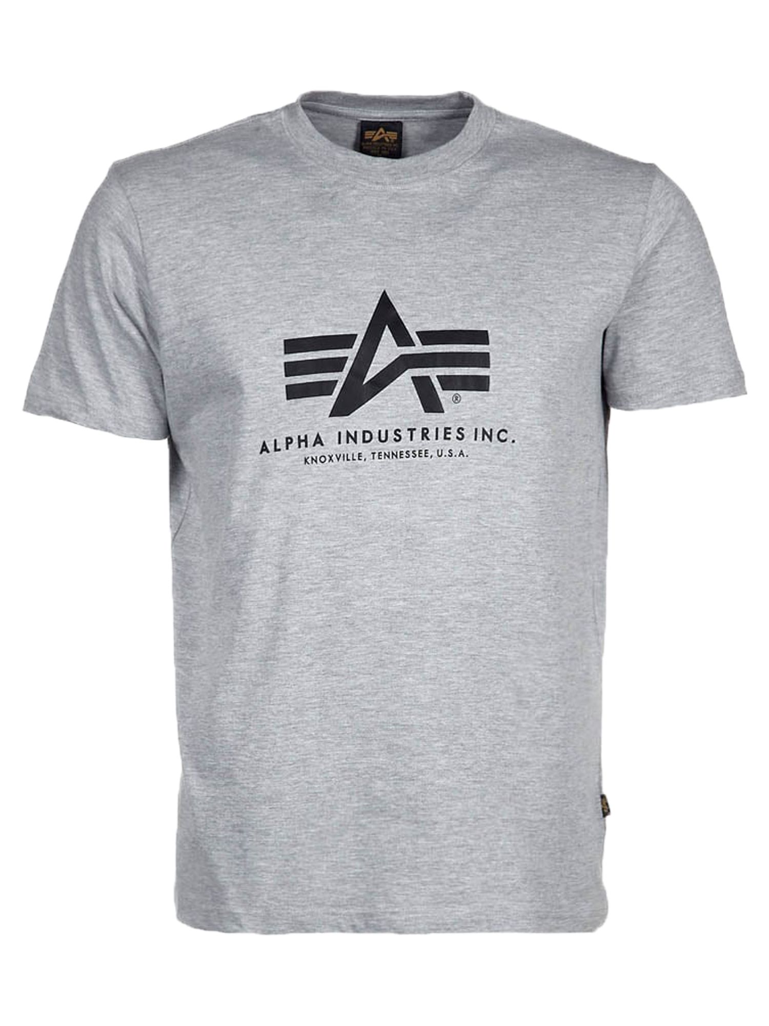 Alpha Industries Men's Alpha Industries Alpha Logo T-Shirt, Grey