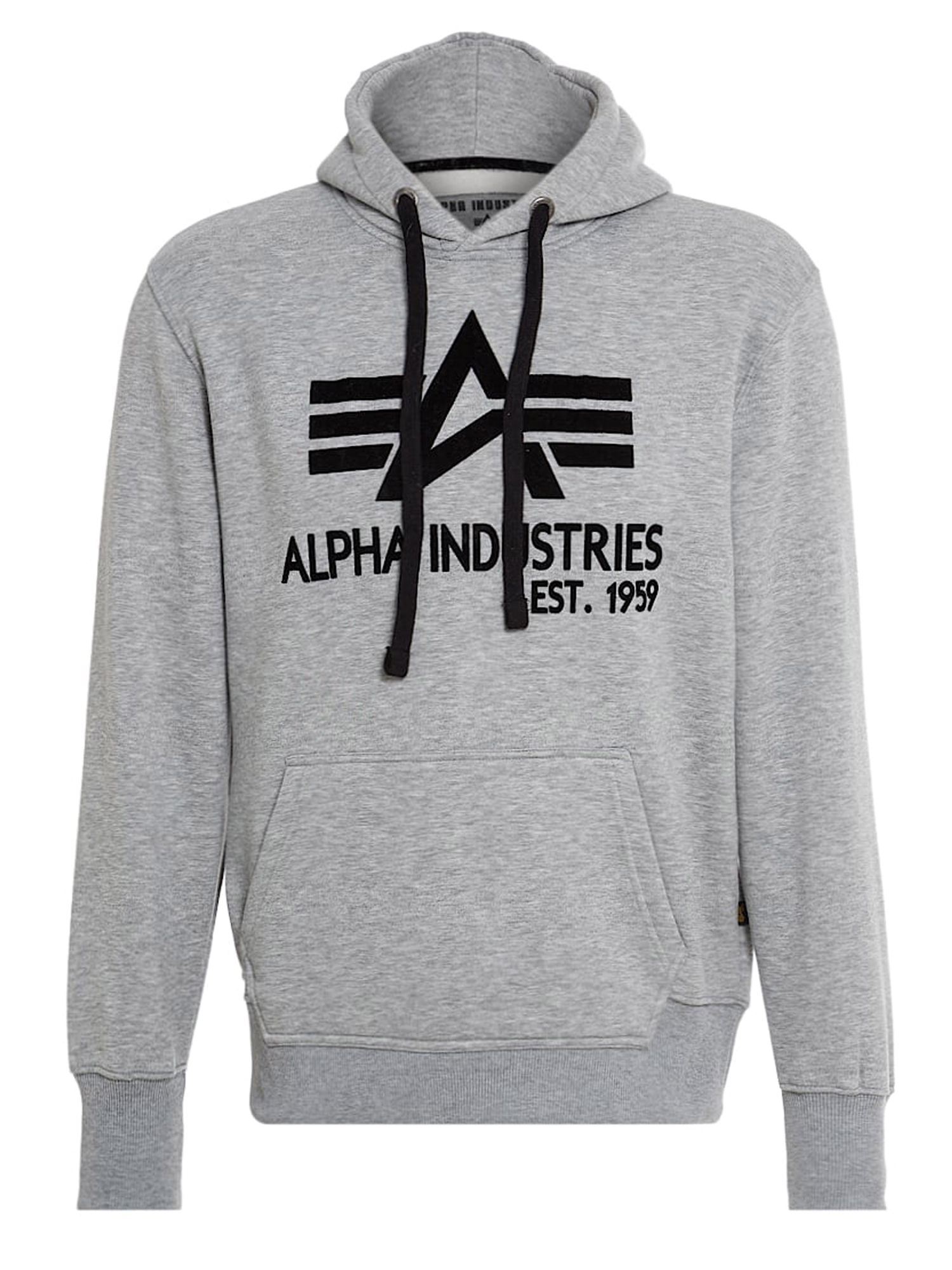 Alpha Industries Men's Alpha Industries Big A Classic Hoody, Grey