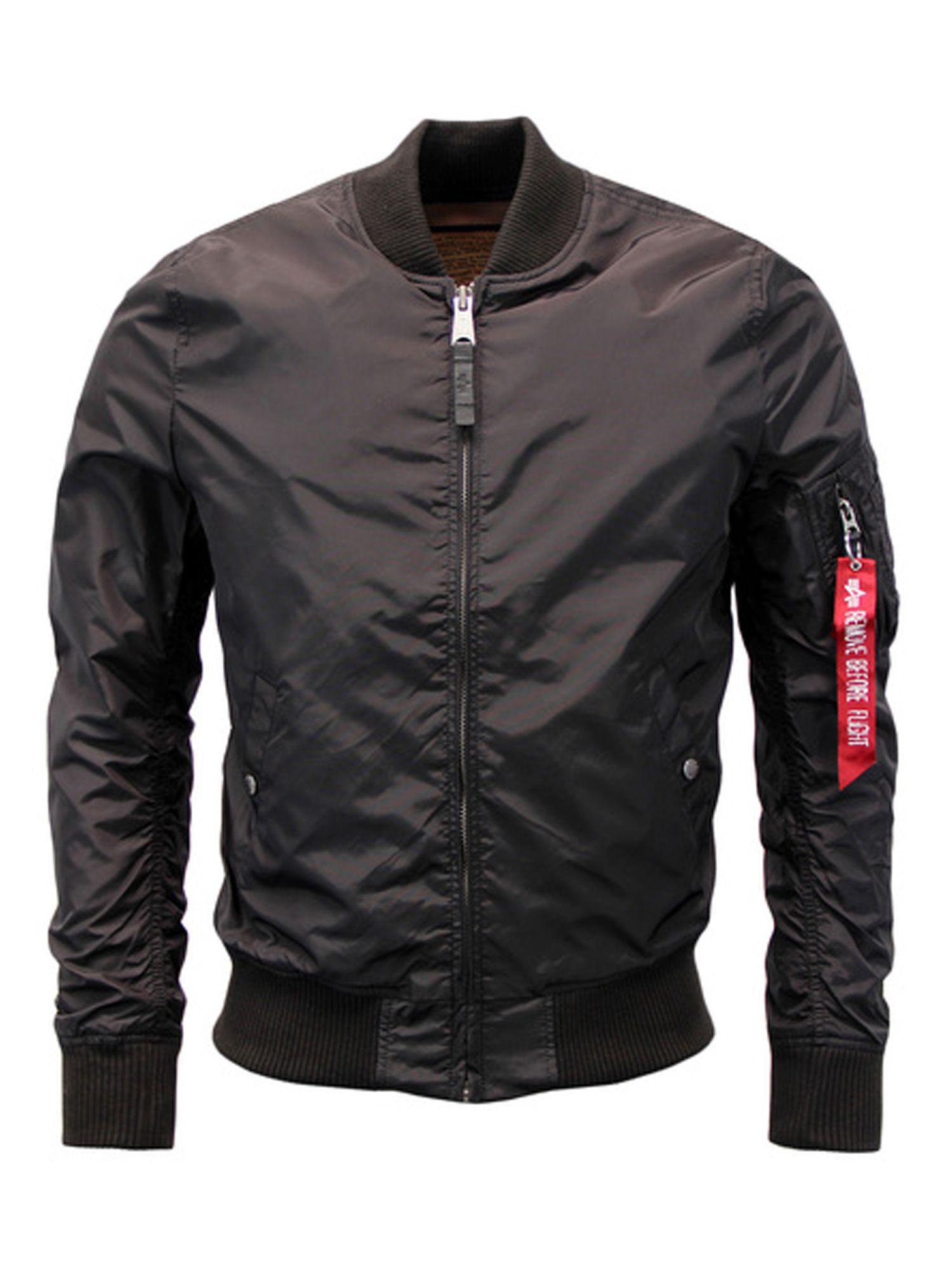 Alpha Industries Men's Alpha Industries MA-1 TT Jacket, Black