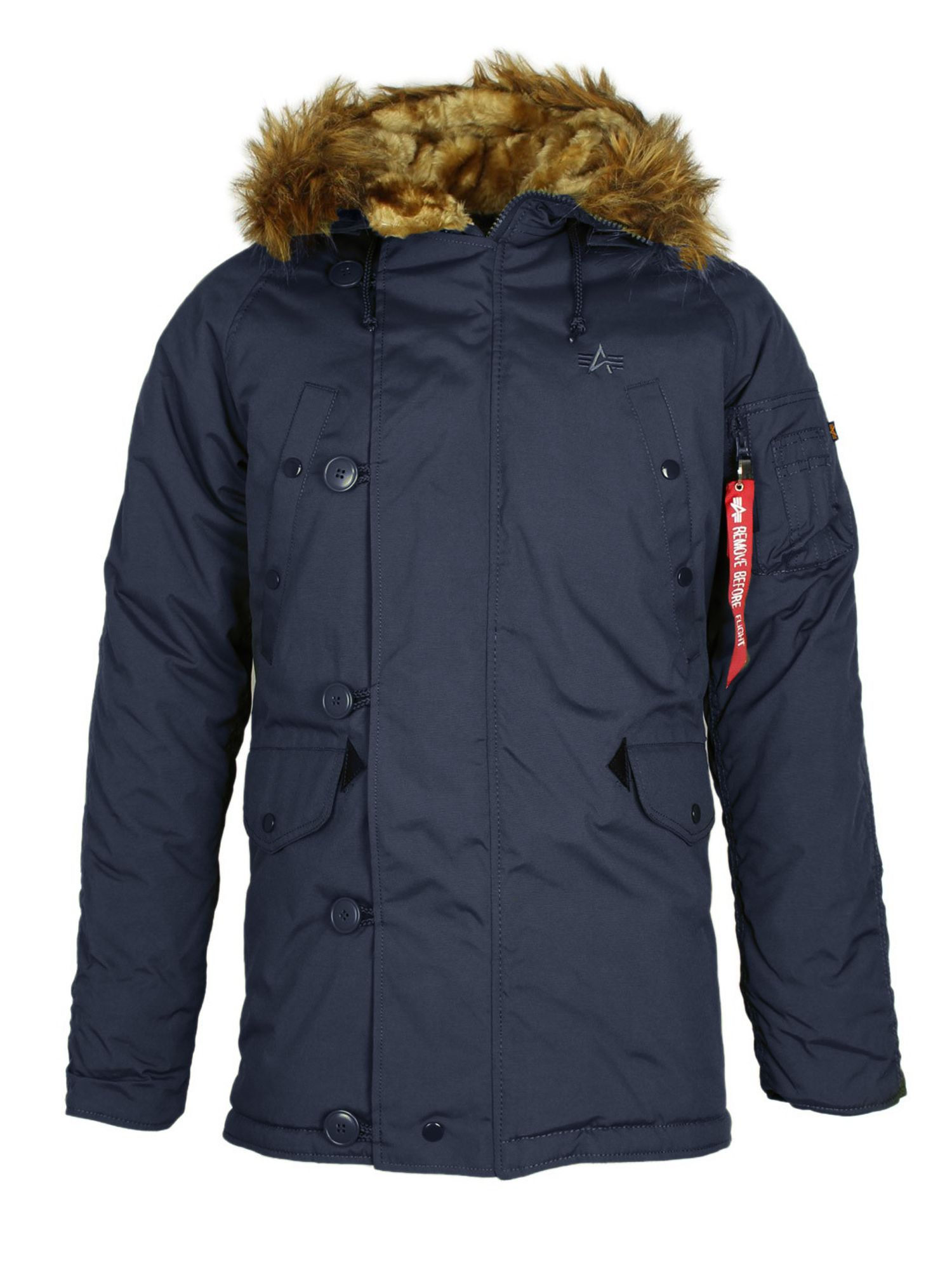 Alpha Industries Men's Alpha Industries Explorer Jacket W/O Patches, Navy