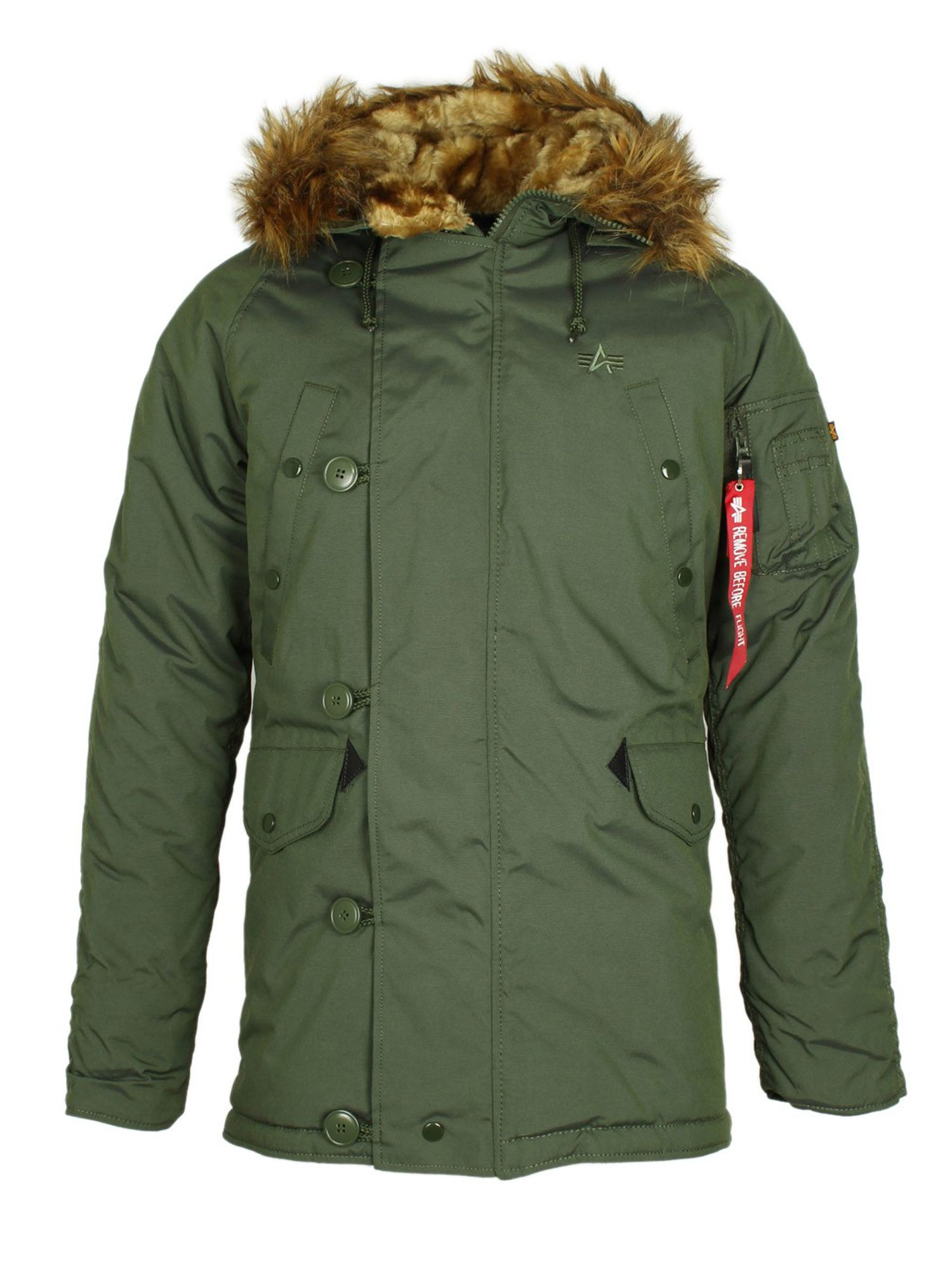 Alpha Industries Men's Alpha Industries Explorer Jacket W/O Patches, Dark Green