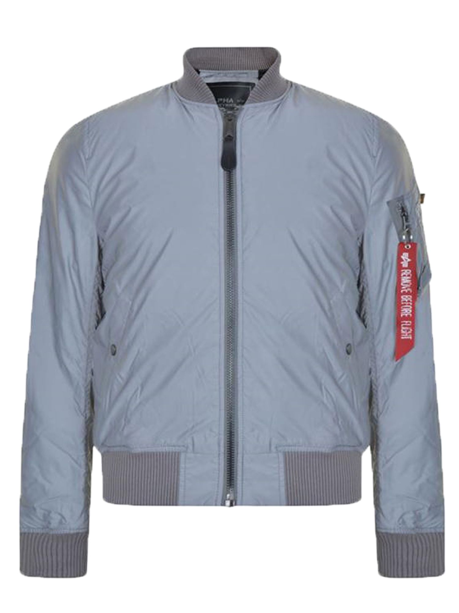 Alpha Industries Men's Alpha Industries MA-1 Rvf Reflective Coat, Grey