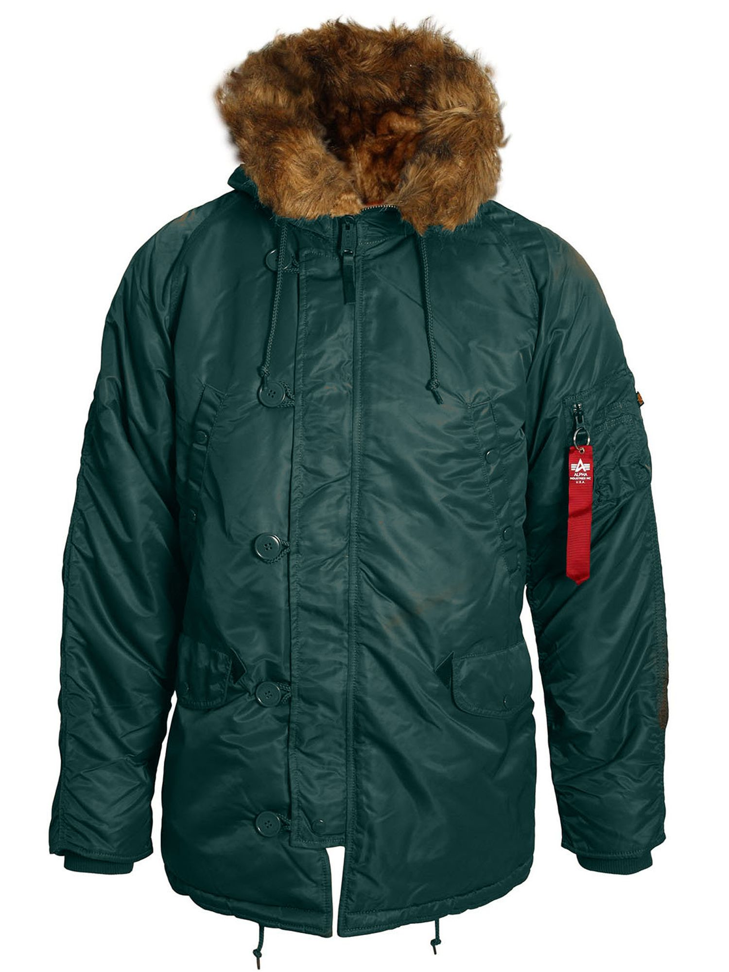 Alpha Industries Men's Alpha Industries N3B VF59 Coat, Green