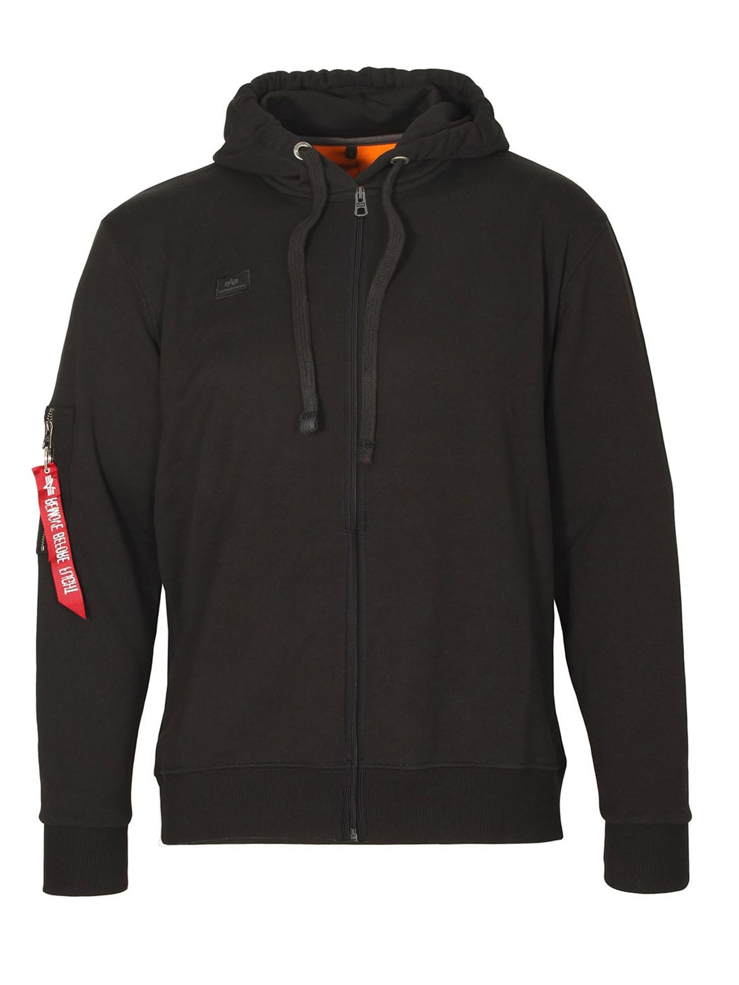 Alpha Industries Men's Alpha Industries X Fit Zip Hoody, Black