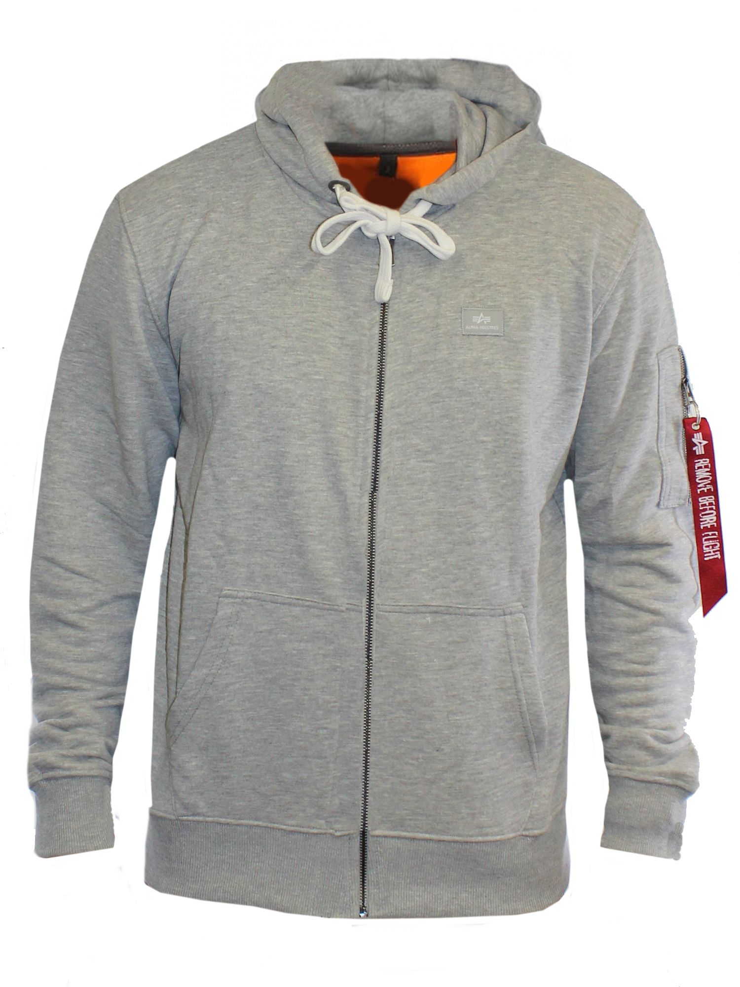 Men's Alpha Industries X Fit Zip Hoody, Grey