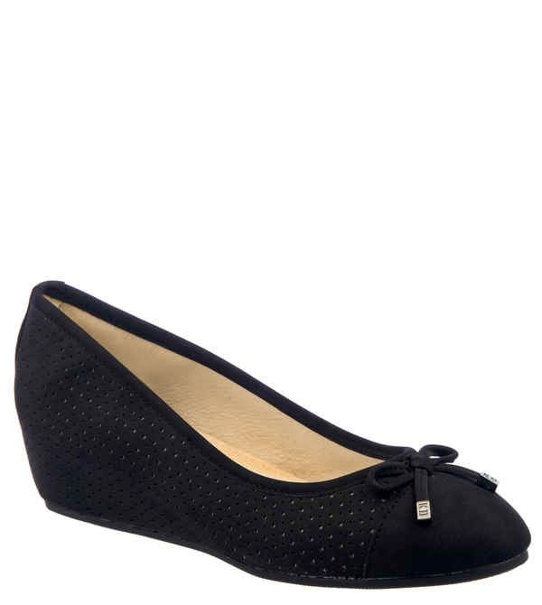 Keddo Keddo Hidden wedge ballerina, Black