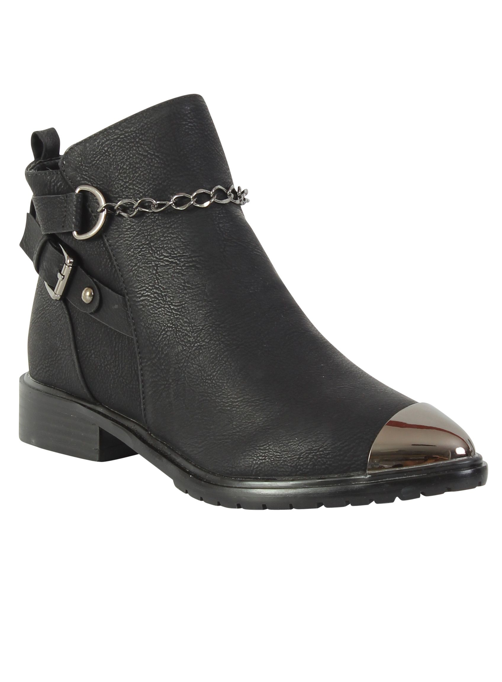Betsy Betsy Toe cap ankle boot, Black