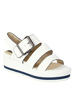 Platform Sandal With Buckle