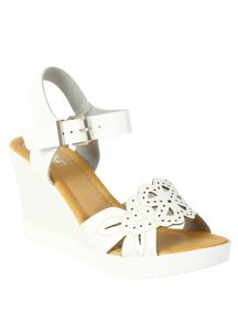 Betsy Laser cut detail wedge heel