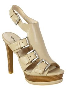 Betsy Buckle peep toe high heel