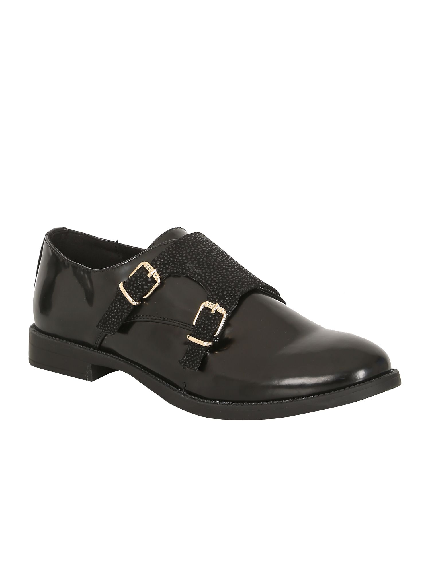 Keddo Keddo Monk strap shoe, Black