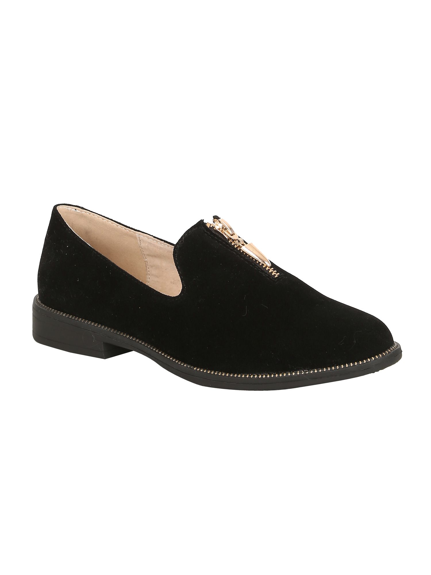 Keddo Keddo Zip slipper, Black