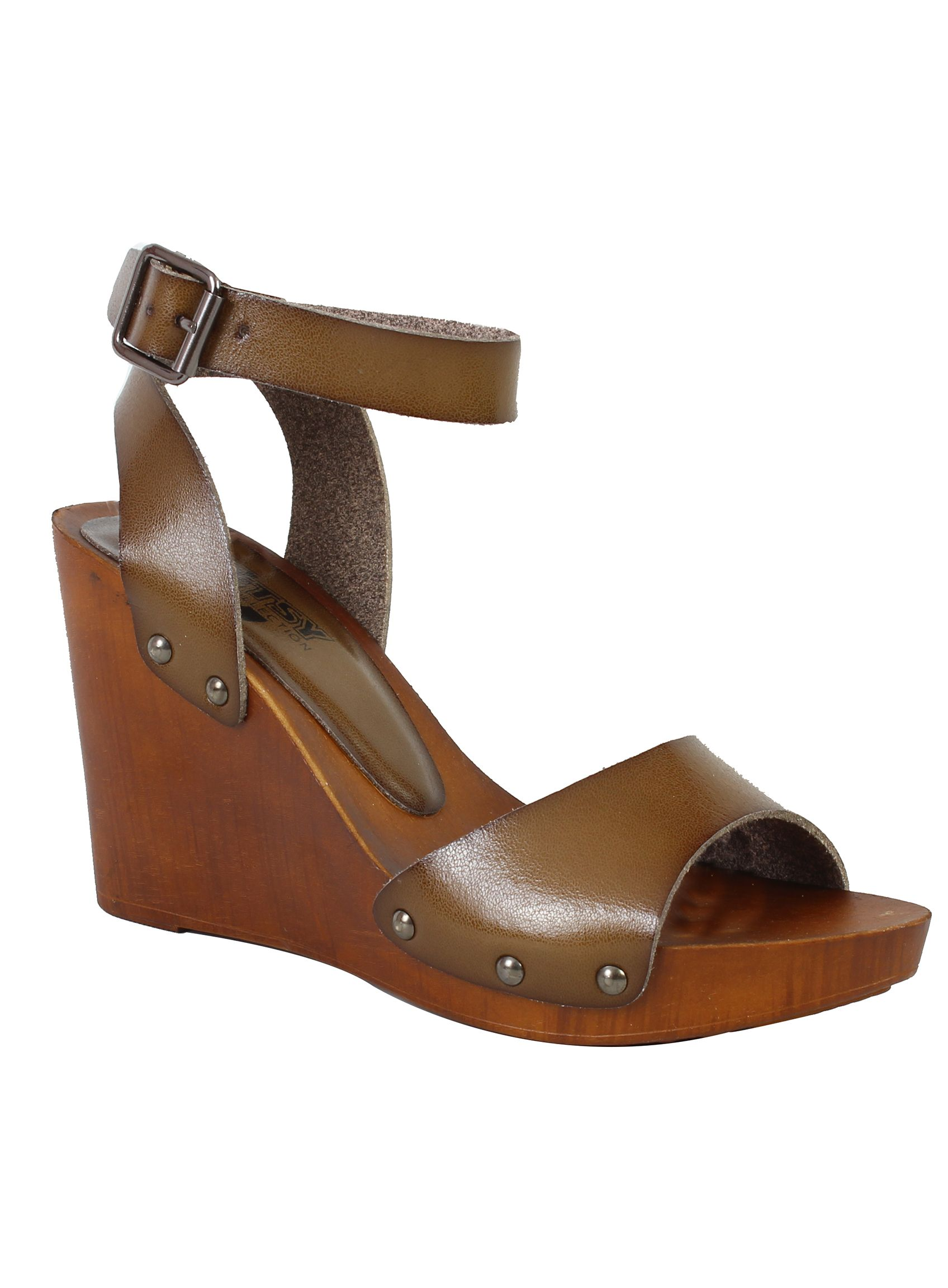 Betsy Betsy Wooden wedges, Medium Brown