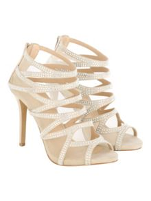 Jane Norman Diamante Cage Heels