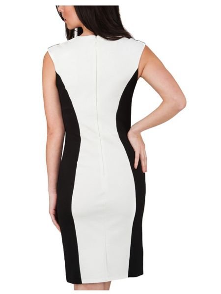 Jane Norman Mono Block Midi Dress