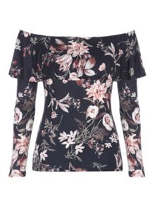 Jane Norman Floral Bardot Top
