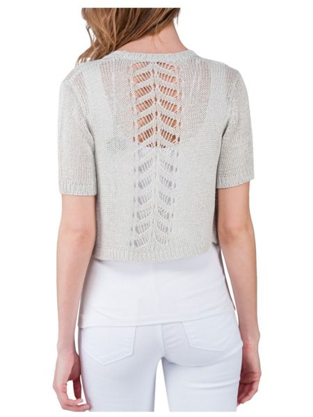 Jane Norman Rose Metallic Shrug