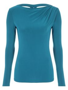 Jane Norman Embellished Cowl Back Top
