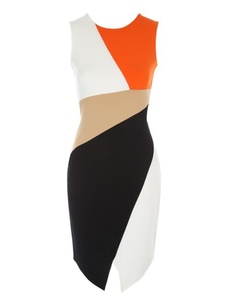 Jane Norman Colour Block Panelled Dress
