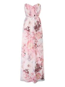 Jane Norman Floral Pleated Maxi Dress