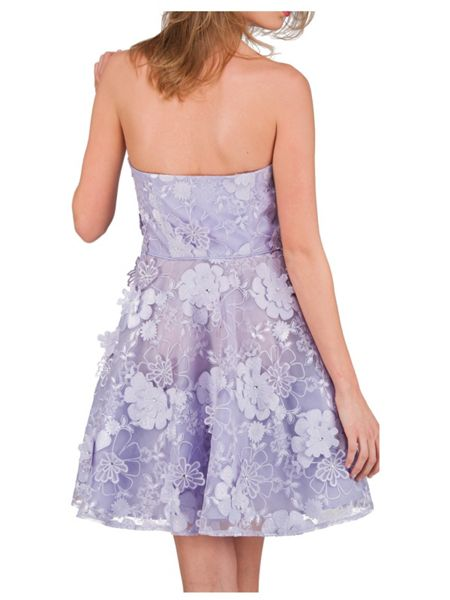 Jane Norman Lilac 3D Flower Prom Dress
