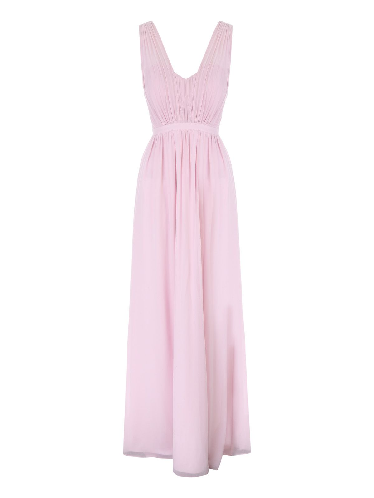 Jane Norman Pink Pleated Maxi Dress, Pastel Pink