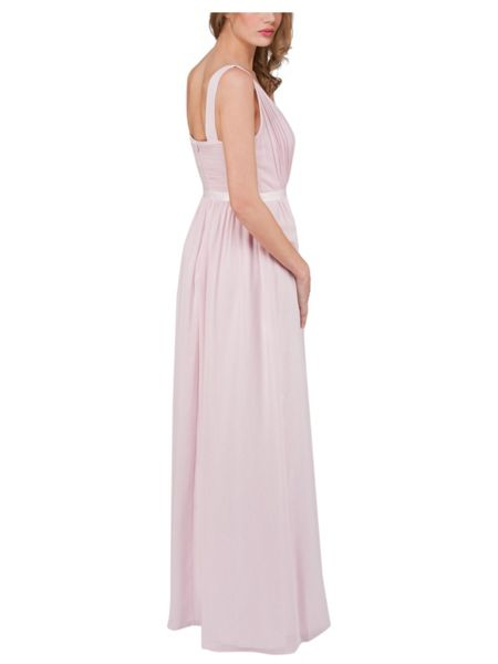 Jane Norman Pink Pleated Maxi Dress