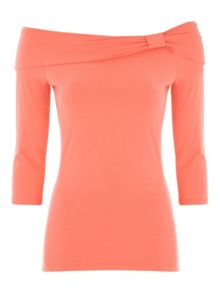 Jane Norman Essential ¾ Length Sleeve Bardot Top
